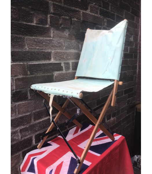MILITARY PROP HIRE - WW2 British officers folding campain chair