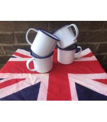 MILITARY PROP HIRE - WW2 British Army tin mugs