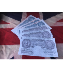 MILITARY PROP HIRE - 1939 - 45  WW2 money 10 shilling notes