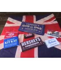 MILITARY PROP HIRE - 1939 - 45  WW2 British and American chocolate