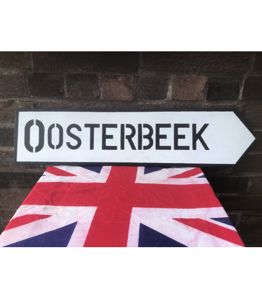 MILITARY PROP HIRE - WW2 SIGN Oosterbeek