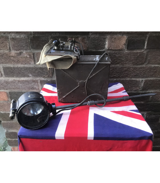 MILITARY PROP HIRE - WW2 British Army Morse code key and lamp