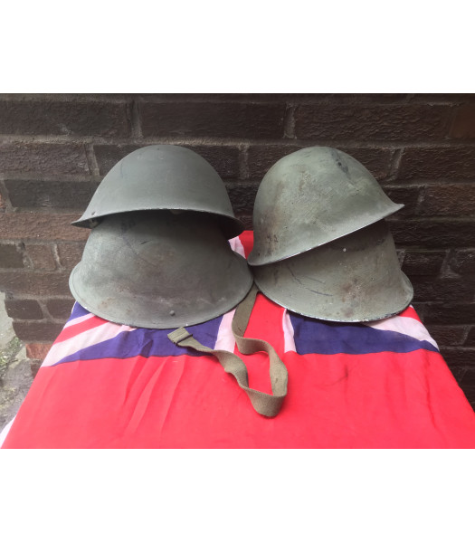 MILITARY PROP HIRE - WW2 British Army MK3 Turtle helmets