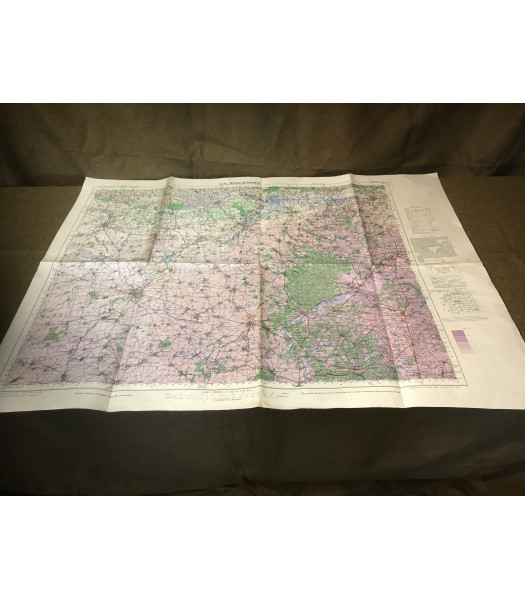 MILITARY PROP HIRE - WW2 British Map of Begium and N France 1942