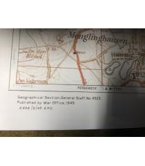 MILITARY PROP HIRE - WW2 British Map of Dortmund Germany 1945