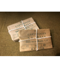 MILITARY PROP HIRE - WW2 British army 303 bullet packs