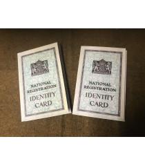 MILITARY PROP HIRE - British WW2 Identity card