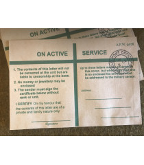 MILITARY PROP HIRE - British WW2 On Active Service envelopes