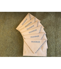 MILITARY PROP HIRE - British WW2 Telegram envelopes