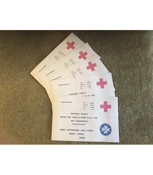 MILITARY PROP HIRE - British Red Cross Parcel labels