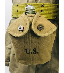 WW2 US equipment prop hire - canteen and canteen cover