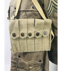 WW2 US equipment prop hire - Thompson 30 round mag pouch