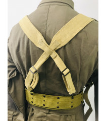 WW2 US equipment prop hire - M1936 suspenders y straps