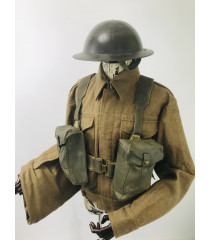 WW2 British Army soldier Uniform with webbing and helmet for hire