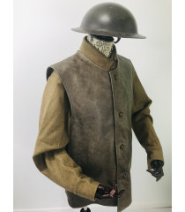 WW1 British Army equipment prop hire - LEATHER JERKIN
