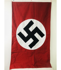 MILITARY PROP HIRE - Nazi Party wall banner flag 3 X 2