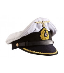 Kriegsmarine Officer Visor Cap - WW2 German Officers Cap