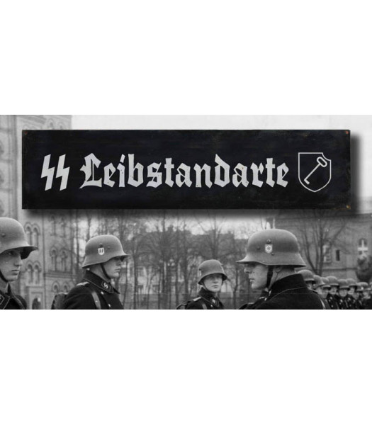 Liebstandarte - vintage WW2 road and place name sign