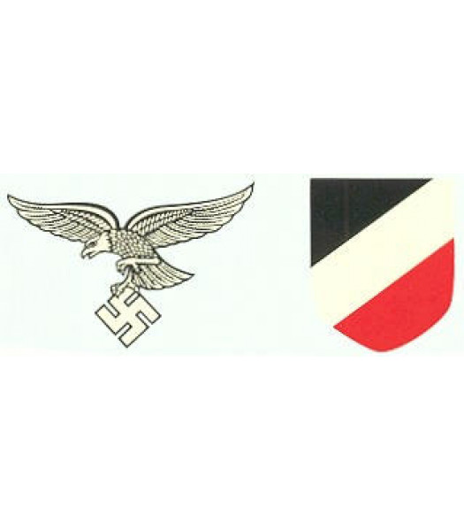 M35/M42 German Helmet Decal - Luftwaffe Decal