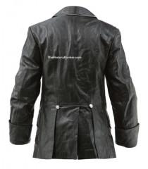 WW2 German Allgemeine SS officers M32 tunic in black leather