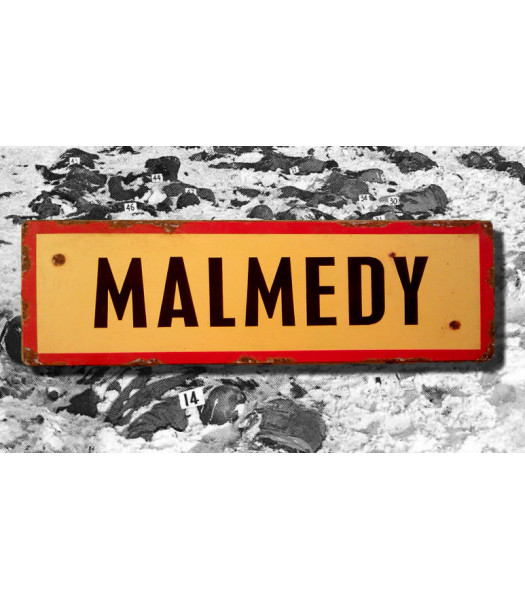 Malmedy - vintage WW2 road and place name sign