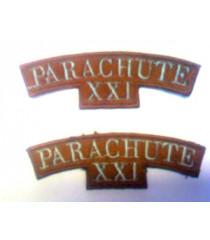 21st Parachute Shoulder Titles - 1 Pair