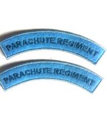 Paratrooper shoulder titles - 1 pair blue
