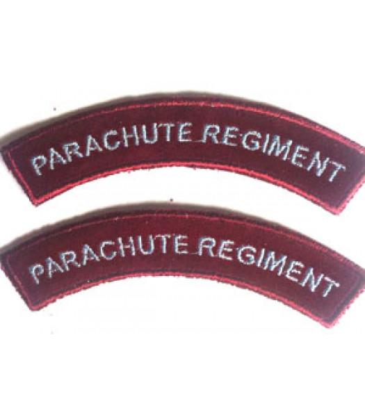 Paratrooper shoulder titles - 1 pair burgundy