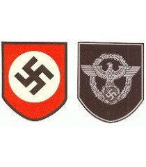 M35/M42 German Helmet - Police Decal