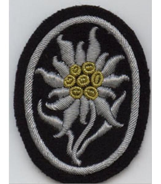 Waffen SS Edelweiss Officers Sleeve Badge