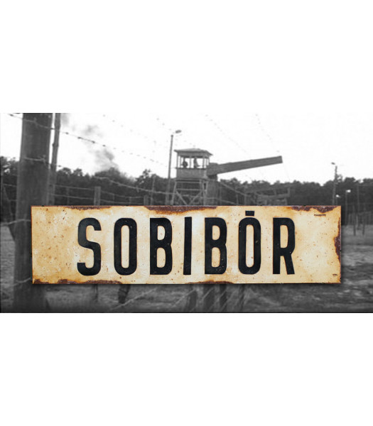 Sobibor - vintage WW2 road and place name sign