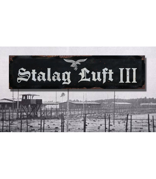 stalag luft III - vintage WW2 road and place name sign