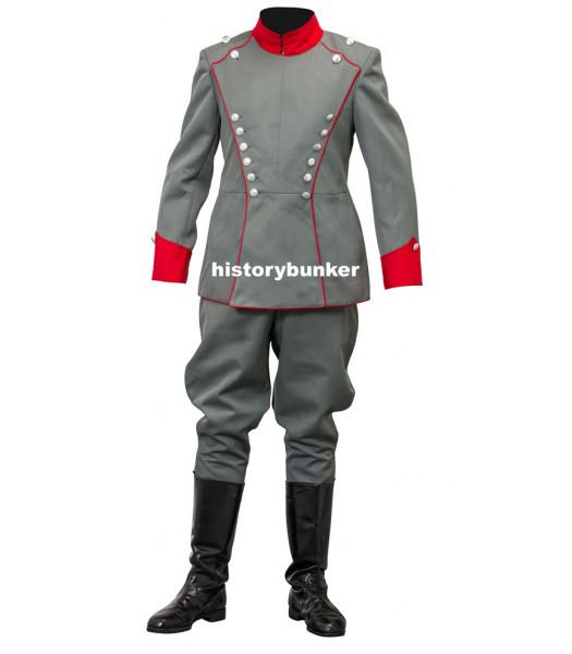 WW1 German Uhlan tunic and breeches - red collar - Royal Saxon Regument