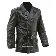 WW1 Imperial German Fighter Pilots leather jacket - black