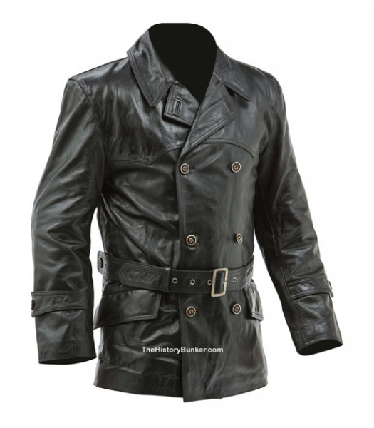 WW1 Imperial German Fighter Pilots leather jacket - black