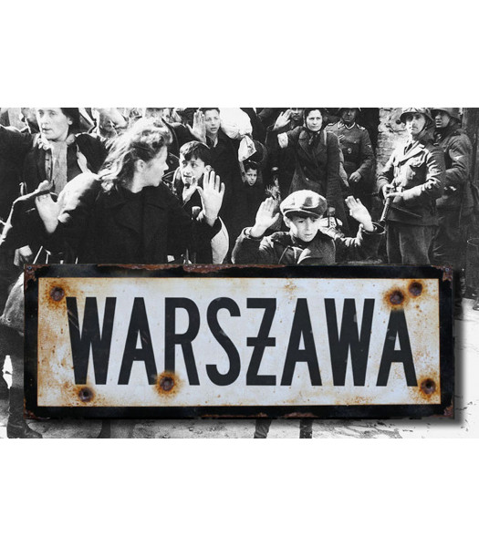 Warsaw - vintage WW2 road and place name sign