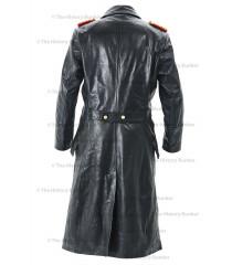 German SENIOR Officers Horsehide Great Coat - WW2 German Leather Coat