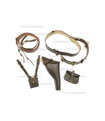 WW1 British Army officer leather Sam Brown equipment set