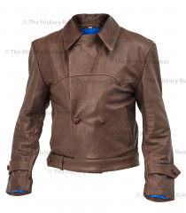 WW1 German Motorcycle despatch rider leather wrap jacket - BROWN