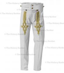 British Napoleonic Hussar Pantaloons - white