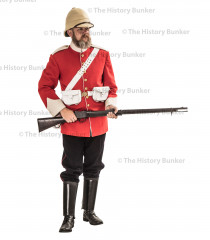 Victorian Leicester 17th infantry of foot uniform