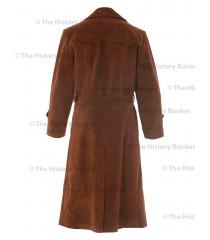 German SENIOR Officers Great Coat SUEDE - WW2 German Leather Coat