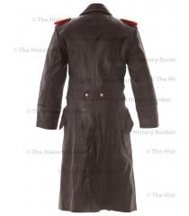German SENIOR Officers Horsehide Great Coat BROWN - WW2 German Leather Coat
