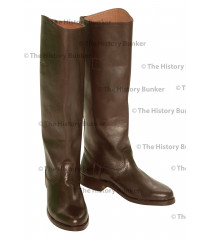 WW1 British Army officer riding  boots - brown leather, full leg