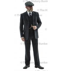 Edwardian mens suit jacket - GREY