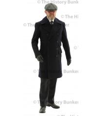 Edwardian Civilian  double breasted overcoat - BLUE