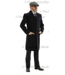 Edwardian Mens single breasted overcoat - BLUE
