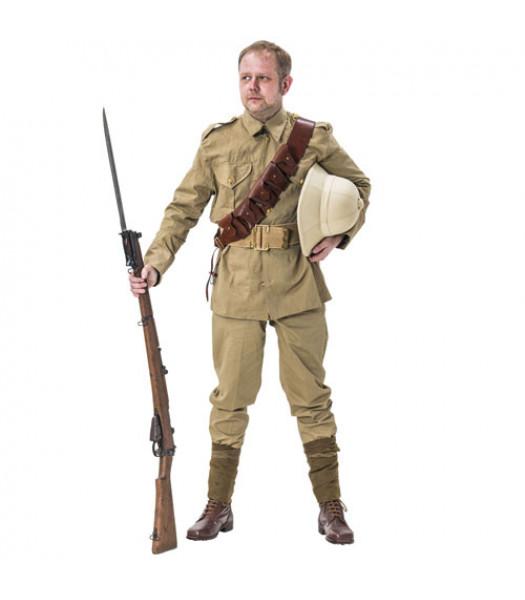 WW1 British Army Soldiers Khaki Drill Uniform