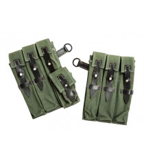 German MP40 Canvas Ammo Pouches - Green
