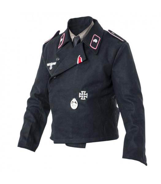 WW2 German Army Panzer wrap tunic with insignia
